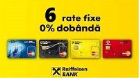 2 - 6 rate egale fara dobanda prin Raiffeisen Bank