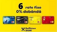 2 - 6 rate egale fara dobanda prin Raiffeisen Bank