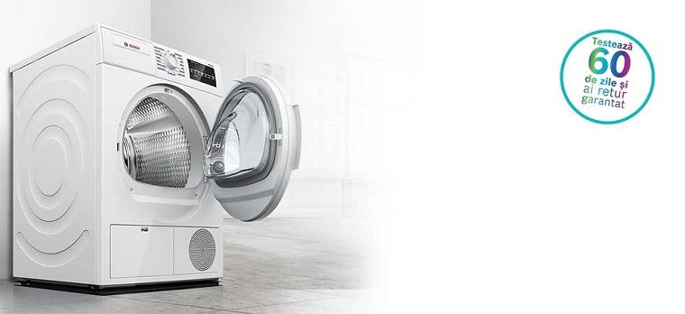 """Campanie nationala """"60 zile Money Back Warranty pentru uscatoarele de rufe Bosch"""