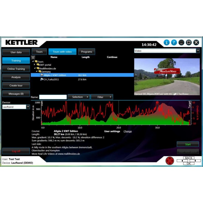 Poza Software Kettler WORLD TOUR 2.0 UPGRADE. Poza 2