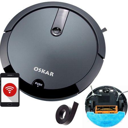 Poza Aspirator robot DEDAL OSKAR-full, Perie centrala, Wi-Fi, Curatare sistematica, Aspirare/stergere umeda, Perete virtual. Poza 1