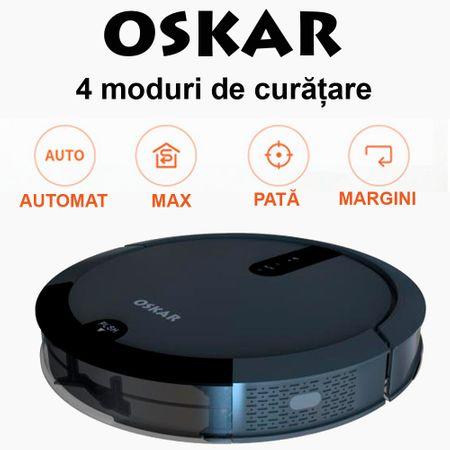 Poza Aspirator robot DEDAL OSKAR-full, Perie centrala, Wi-Fi, Curatare sistematica, Aspirare/stergere umeda, Perete virtual. Poza 2