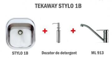 Pachet Promotional Bucatarie Teka Tekaway Stylo 1B + Dozator detergent + ML 913