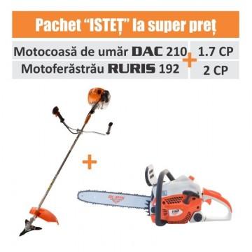 Pachet ISTET (motocoasa DAC 210+ motoferastrau RURIS 192)