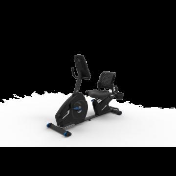 Bicicleta orizontala de exercitii NAUTILUS R626 Gri, Greutate suportata 136 Kg,, Boxe integrate, Bluetooth, USB, Ecran LCD, Ventilator, 29 programe antrenament. Poza 3