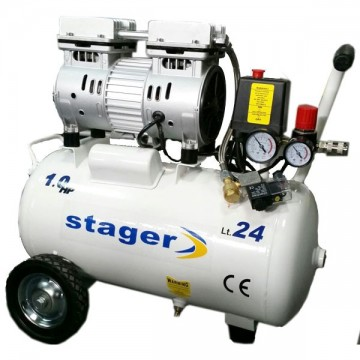 poza Compresor silentios Stager HM24JW-0.55 0.75CP, 24L, 8bar