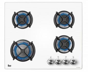 poza Plita incorporabila Teka HF LUX 60 4G AI AL CI White, 4 arzatoare gaz, sticla alba, gratare fonta