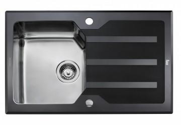poza Chiuveta Inox Teka EXPRESSION LUX 1B 1D 86 860 x 510 mm Sticla neagra