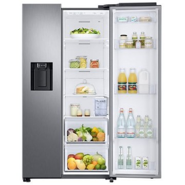 poza Side by side Samsung RS68N8321S9/EF 617l, Clasa A++, Full No Frost, Twin Cooling, Compresor Digital Invertor, Display, Dispenser, H 178cm, Inox