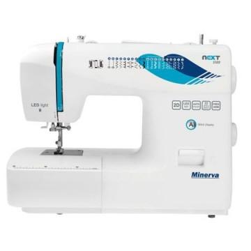 poza Masina de cusut Minerva Next232D, 23 programe, 850 imp/min, Alb/Albastru