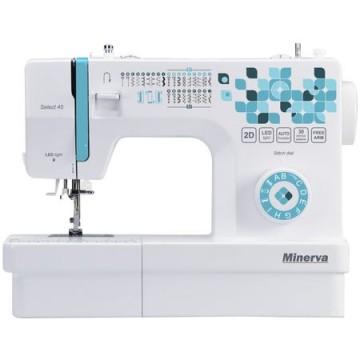 poza Masina de cusut Minerva Select45, 30 programe, 850 imp/min., Alb/Turcoaz