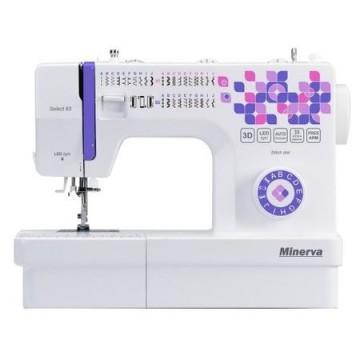 poza Masina de cusut Minerva Select65, 33 programe, 850 imp/min, Alb/Mov