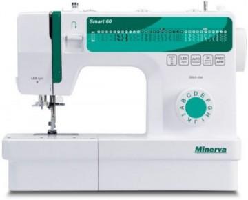 poza Masina de cusut MINERVA Smart60, 34 programe, 850 imp/min, alb-verde
