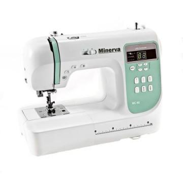 poza Masina de cusut Minerva MC80, 80 programe, 800 imp/min, Alb/Vernil