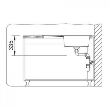 Chiuveta pentru bucatarie METRA 9 E SILGRANIT JASMIN, FARA POP-UP, 830x830mm, pentru montare pe colt , 515569 Poza 2