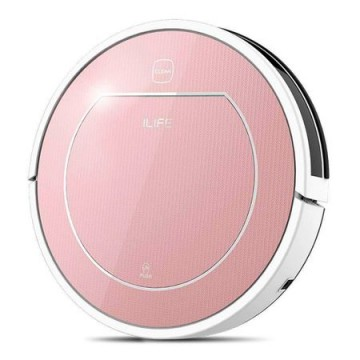 poza Aspirator robot  ILIFE V7s Plus, Perie centrala,Wi-Fi, Autonomie pana la 130 min, Aspirare/stergere umeda, Roz