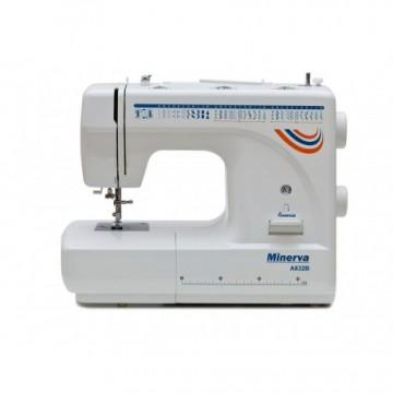 poza Masina de cusut electromecanica Minerva A832B, 32 programe, 800 imp/min, 70W, Alb/Albastru