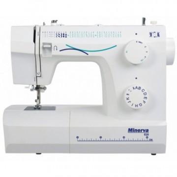 poza Masina de cusut electromecanica Minerva E20, 35 programe, 800 imp/min, 70W, Alb