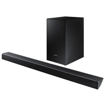 poza Sound bar HW-N450, Puterea RMS: 320 W, Tip sistem: 2.1, Tip Subwoofer Wireless, Decodare sunet: Dolby Digital 2/DTS 2, Formate decodificate: FLAC/AAC/MP3/WAV/OGG, Conectare: USB/Bluetooth/HDMI 1/ IN Audio 1/IN optic 1, Compatibil cu SWA-8500S, BT App