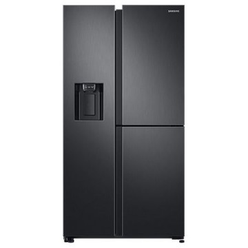 poza Side by side Samsung RS68N8671B1, 640 l, Full NoFrost, Touch control, Dispenser apa/gheata, Clasa A++, H 178 cm, Black inox