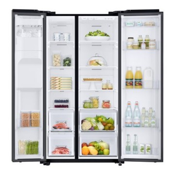 poza Side by side Samsung RS68N8220B1, 617l, Clasa A+, Full No Frost, Twin Cooling, Compresor Digital Invertor, Display, Dispenser, H 178cm, Negru