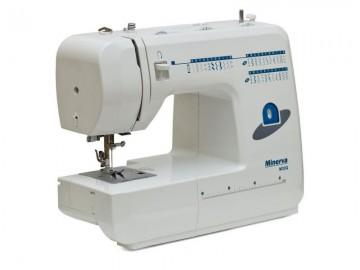 poza Masina de cusut electromecanica MINERVA М32Q, 32 programe, 85W, Alb/Albastru