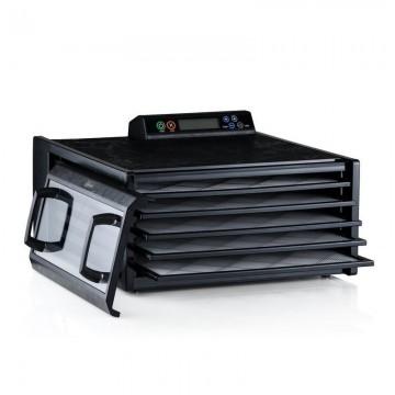 poza Excalibur deshidrator negru 5 tavi si timer control digital si usa transparenta