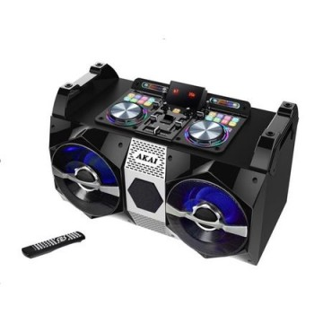 poza Sistem audio Akai DJ-530, Bluetooth, microfon wireless, DJ effects, negru
