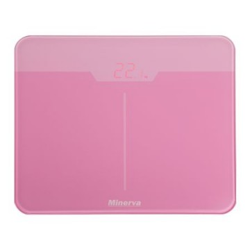 poza Cantar electronic de persoane Minerva Experience Rose Noir B32E, 180 kg, Roz