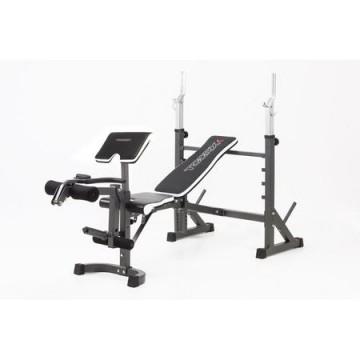 poza Banca multifunctionala profesionala TOORX WBX-90, Greutate suportata 240 kg, Perna biceps inclusa, Pliabila