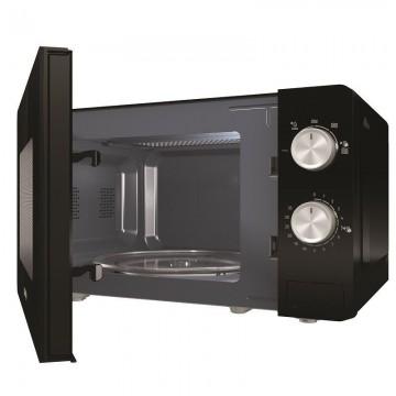 poza Cuptor cu microunde Gorenje MO20E1B, 20 L, 5 trepte de putere, 800 W, Comenzi mecanice, Negru