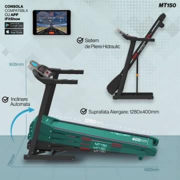 Banda de alergare TECHFIT MT150, Putere Maxima 4CP, Greutate utilizator: 120KG, Suprafata de alergare 120 x 42cm. Poza 4