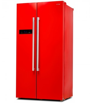 poza Side by Side SILTAL PASSIONE DUE IHID51NR, Clasa A+, Capacitate 510 l, H 177 cm, Rosu