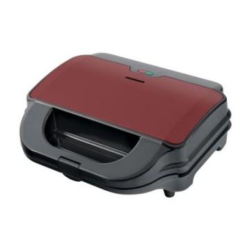 poza Sandwich maker Heinner SM-2H900BKS, 900 W, placi XL, 2 placi detasabile antiadezive: waffle, grill, Negru/Rosu