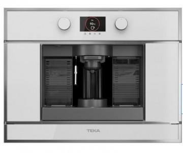 poza Espressor cu capsule incorporabil Teka CLC 835 MC WH, 5 adaptoare capsule, pad-uri si cafea macinata, pompa 19 bari, inox anti- pata/cristal alb