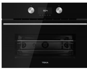 poza Cuptor cu microunde incorporabil Teka MLC 844 cu 3 functii, 1000W, grill 1400W, 44 litri, Inox antipata/cristal negru