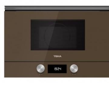 poza Cuptor cu microunde incorporabil Teka ML 8220 BIS L LB stanga 850W, 9 retete presetate, baza ceramica, grill rabatabil 1200W, Cristal London brick brown/ Infinity Glass