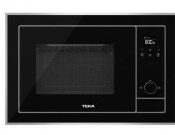 poza Cuptor cu microunde incorporabil Teka ML 820 BIS 18 litri, 700W, interior inox, grill 1000W, Inox antipata/cristal negru