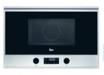 poza Cuptor cu microunde incorporabil Teka MS 622 BIS cu 22 litri, 2 retete presetate, 850 W, baza ceramica, grill 1200W rabatabil, balama dreapta, inox anti-pata