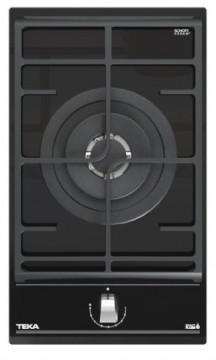 poza Plita gaz incorporabila Teka GZC 31330 Domino, cu 1 arzator coroana dubla, 30cm, gratar fonta, Cristal negru
