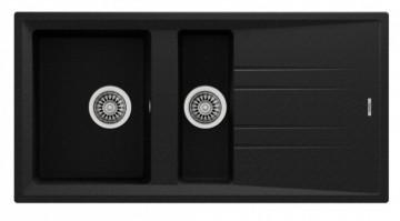 poza Chiuveta de bucatarie Teka STONE 60B TG 1 1/2B 1D, 1000 x 510 mm, granit, schwarzmetalic