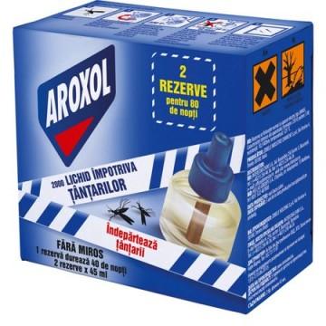 poza Insecticid Aroxol Lichid Impotriva Tantarilor 45 Nopti - 2buc (90 Nopti) 5946004013088