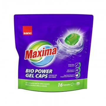 Rezerva Detergent rufe Sano Maxima Gel Bio Capsule 16buc. Poza 1