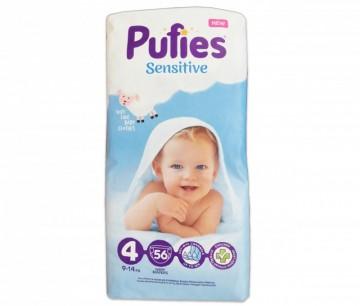 poza Scutece Pufies Sensitive - Maxi 56 pcs (maxi pack) size4 9-14kg 56buc