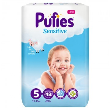 poza Scutece Pufies Sensitive - Junior 48 pcs (maxi pack) size5 11-16kg 48buc