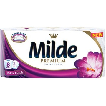 poza Hartie igienica Milde Strong & Soft - Relax Purple 8 role