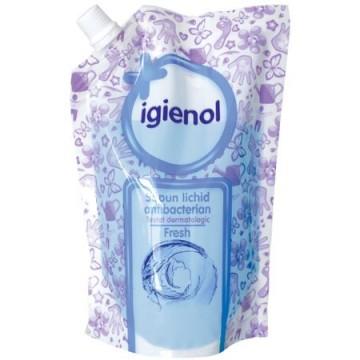 poza Sapun Lichid Antibacterian Igienol Fresh Rezerva 500ml 5946004008350