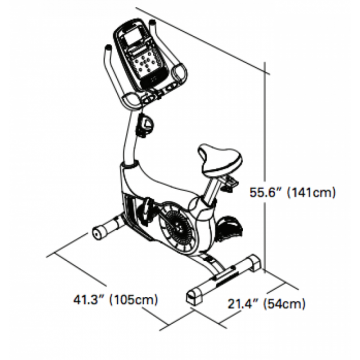 Bicicleta fitness SCHWINN 570U Upright, Greutate maxima utilizator 136 Kg, Ecran LCD, USB, Suport sticla, Touchscreen, MP3, Boxe integrate. Poza 5