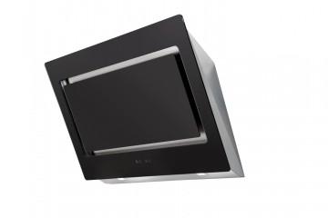 poza Hota design  RAGGIO, 90cm, 671mc/h, Touch Control, Inox si Sticla Neagra Pyramis 065021801