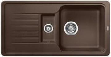 poza Chiuveta pentru bucatarie BLANCO FAVOS 6 S SILGRANIT CAFEA , FARA PO-UP, 860 x 435mm, adancime 180mm / 78mm, pentru montare pe blat si sub blat, 519079
